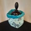 Zèbres et fleurs-Turquoise